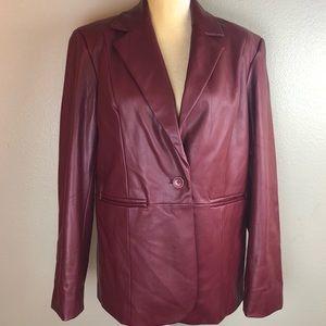 Susan Graver Style Maroon Fitted Jacket Medium